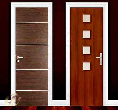 White primer doors natural teak skin doors vision hole for Latest wooden door designs 2016